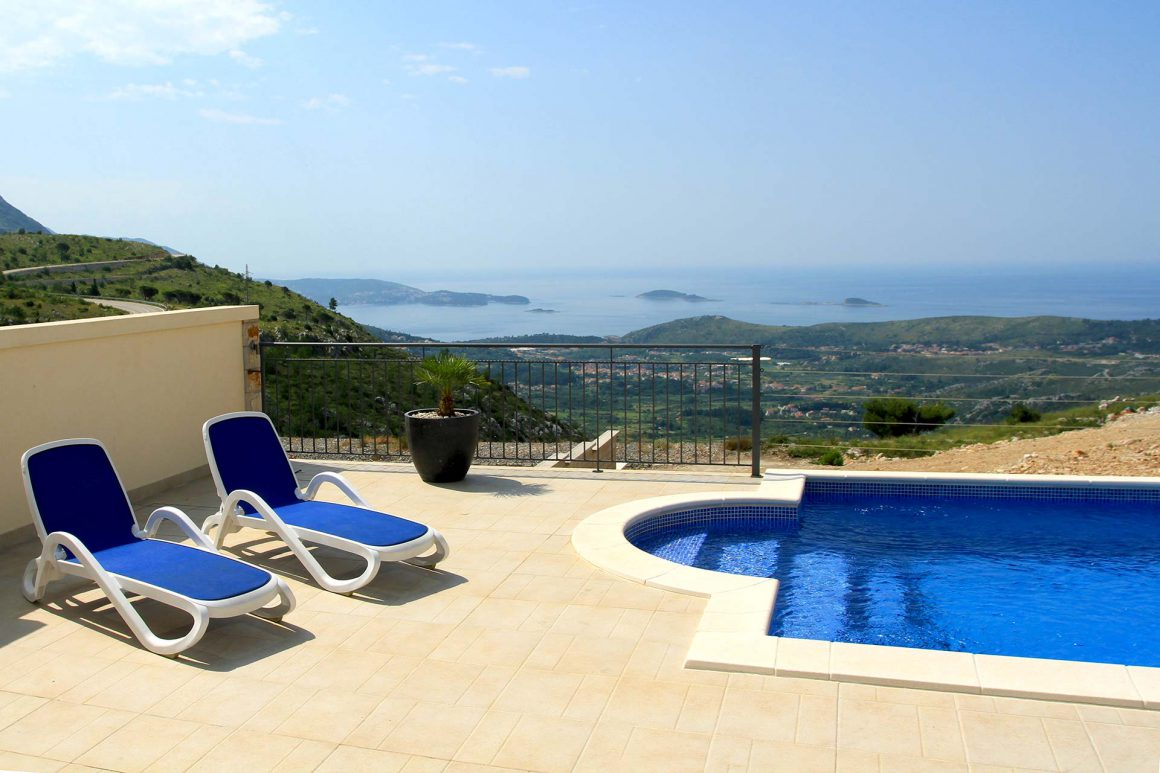 Luxury-Villa-Arc-view-from-the-terrace-and-private-pool-to-the-Dubrovnik-Riviera