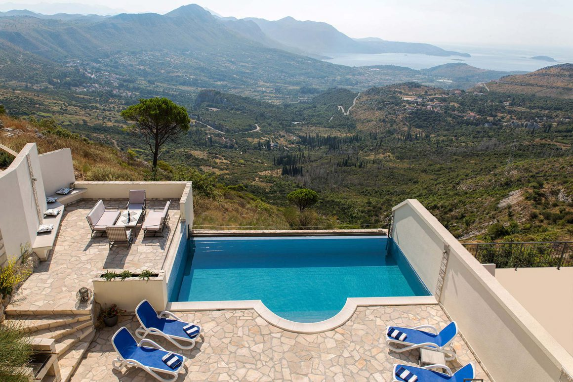 Luxury-Villa-Fig-aerial-view-over-the-terrace-and-private-pool-and-Dubrovnik-Riviera