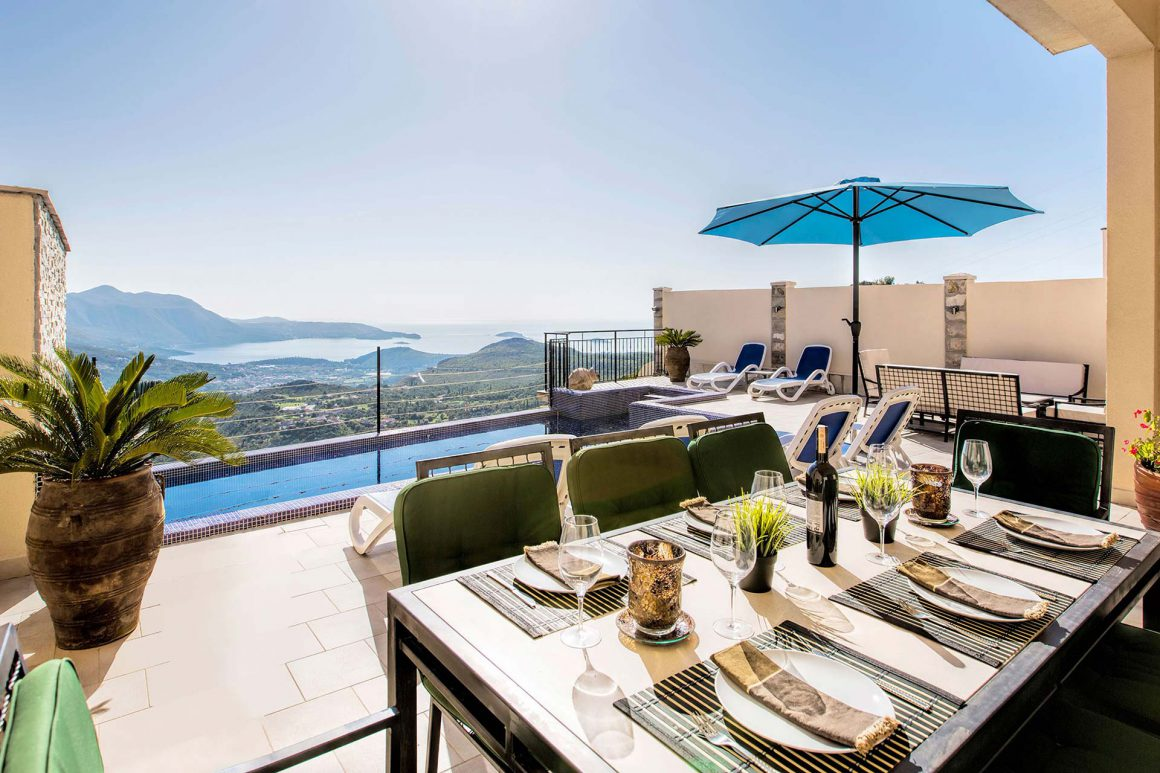 Luxury-Villa-Stone-view-over-the-private-pool-to-Dubrovnik-Riviera