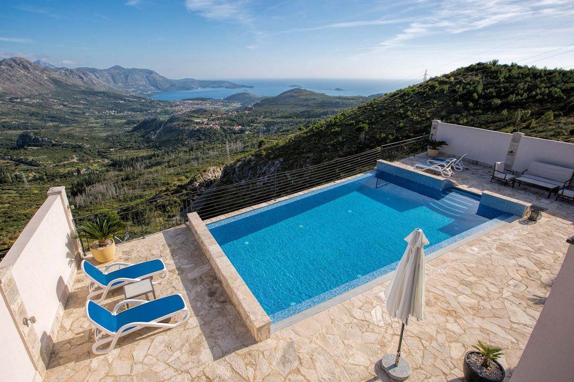 View-from-Luxury-Villa-Goja-over-the-private-pool-to-Dubrovnik-Riviera