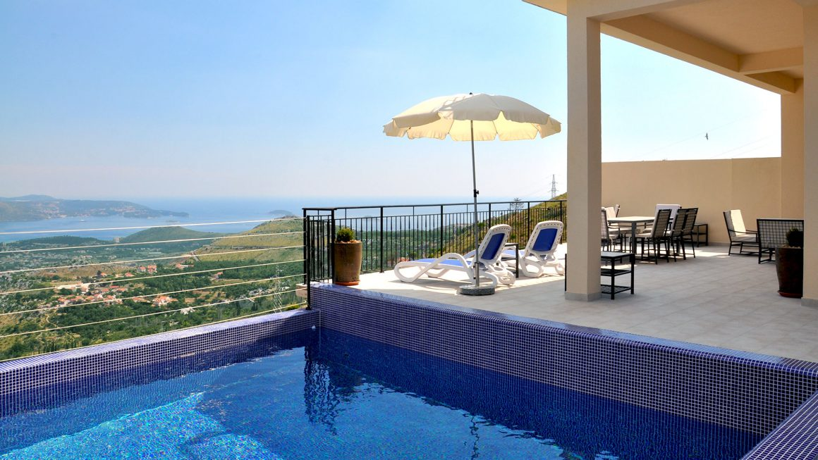 View-from-luxury-villa-Rock-over-the-private-pool-to-the-Dubrovnik-Riviera