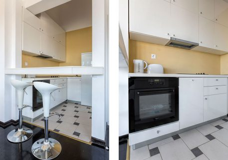 Apartment Alma-fully fitted kitchen with dishwasher, kettle and toaster