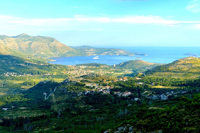 Five star views across the valley to the Dubrovnik Riviera