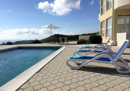 Luxury Apartments Iva and its terrace and private pool