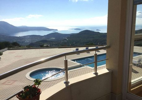Luxury Apartments Iva-incredible views from a balcony over the pool towards Dubrovnik Riviera