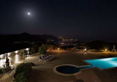 Luxury Apartments Iva-moonlight view towards Cavtat and Dubrovnik airport