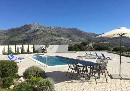 Luxury Apartments Iva terrace with private pool and bbq