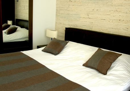 Villa Anna-Master bedroom with quality cotton bedding and built-in wardrobes