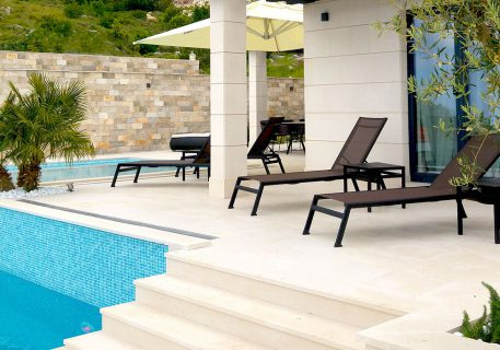 Villa Anna-extensive terrace with private pool and sun loungers