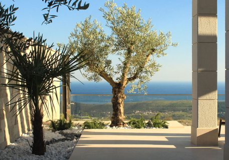 Villa Anna-landscaped gardens surrounding the villa and incredible view to the Dubrovnik Riviera