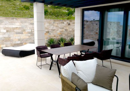 Villa Anna-outdoor sofas, dining table and sun lounder
