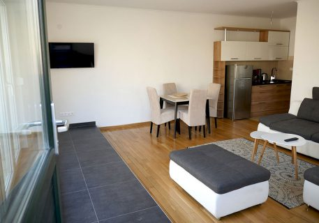 Villa Branko-a kitchenette and sofas to watch the wall mounted TV
