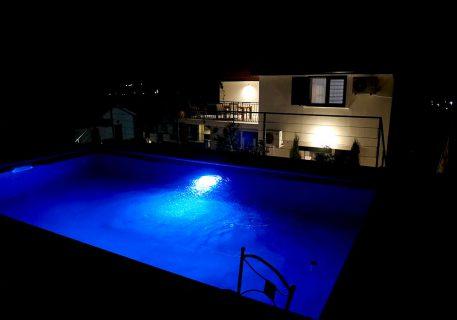 Villa Branko-stunning lighting for the roof top pool