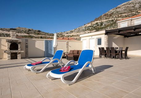 Villa Price-terrace with comfortable outdoor sofas, bbq, pergola and sun loungers