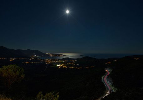 Spectacular view of the Croatian coast by moon-light