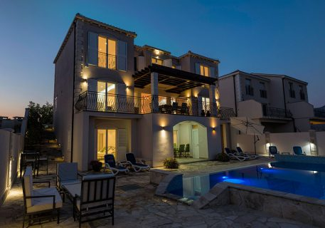 Villa Goja-evening view of the terrace and private pool
