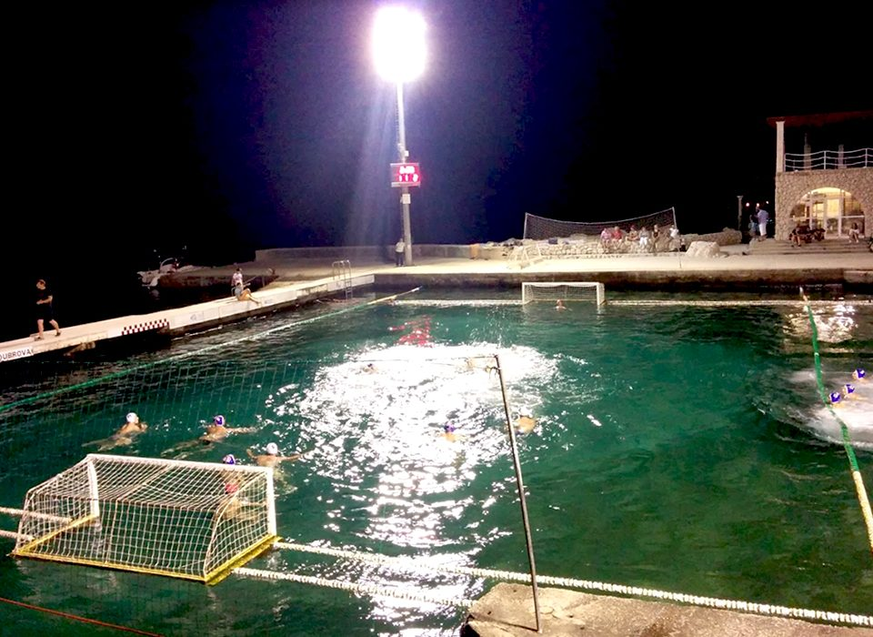 Water polo is a popular game bringingall the local villages together