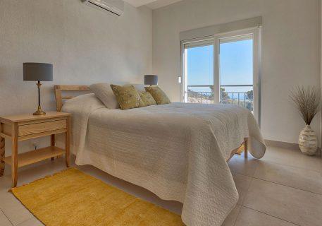 Villa Tamara-master room with incredible views to the Dalamtian coast