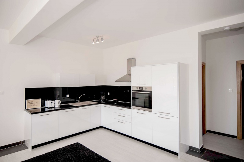 Apartment Alice-Fully fitted kitchen with hob, oven, fridge, freezer and dishwasher