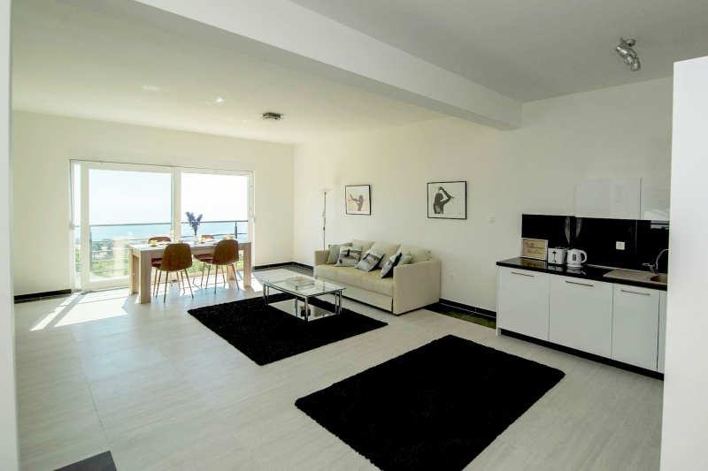 Apartment Alice-Modern, very spacious open-plan lounge with Croatian coast view, dinning area & kitchen