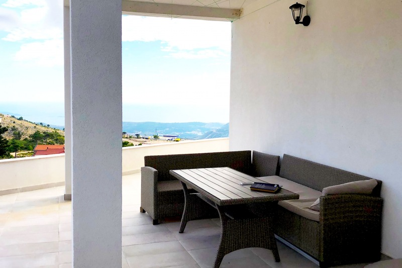 Apartment Alice-Outdoor lounge area suitable for BBQ or dinning with Adriatic as your backdrop
