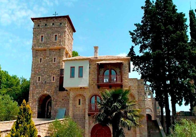 Buildings make up the Monastery-Tvrdos