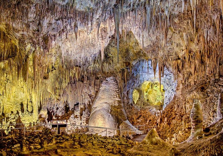Stalagmites and stalactite-Vjeternica