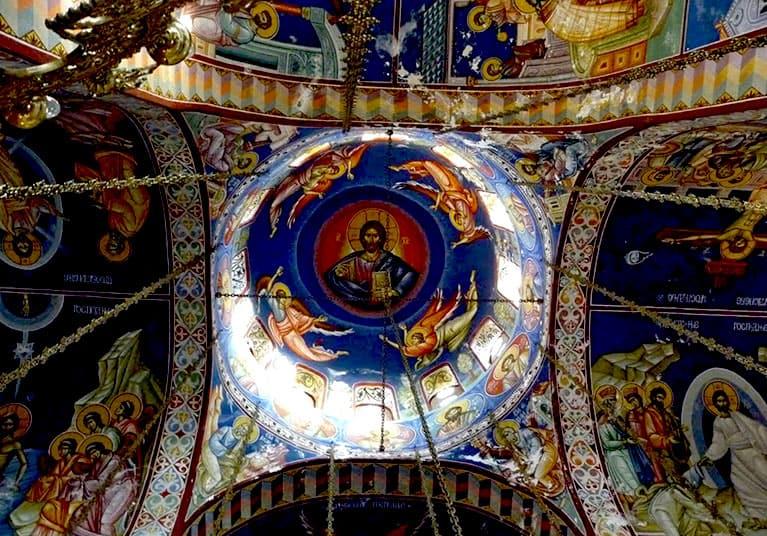 Stunning painted dome of the monastery-Trebinje