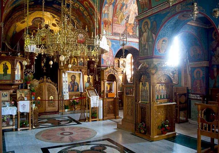 The beautiful small monastery interior-Tvrdos