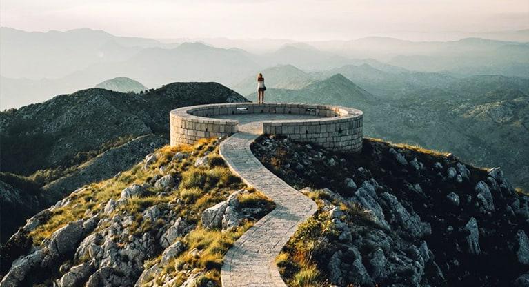 360 views of the Lovcen Mountain Range