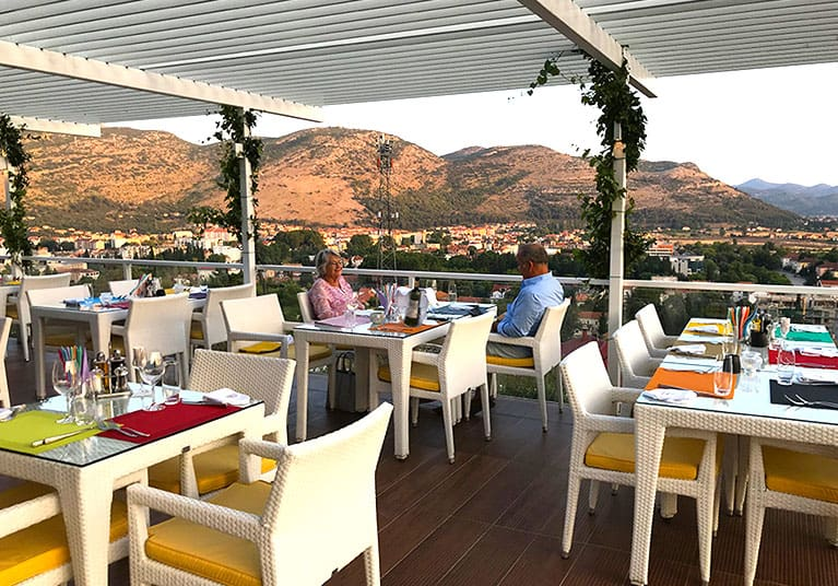 No better way to dine than in a winery watching the sunset-Winery and restaurant Vukoje