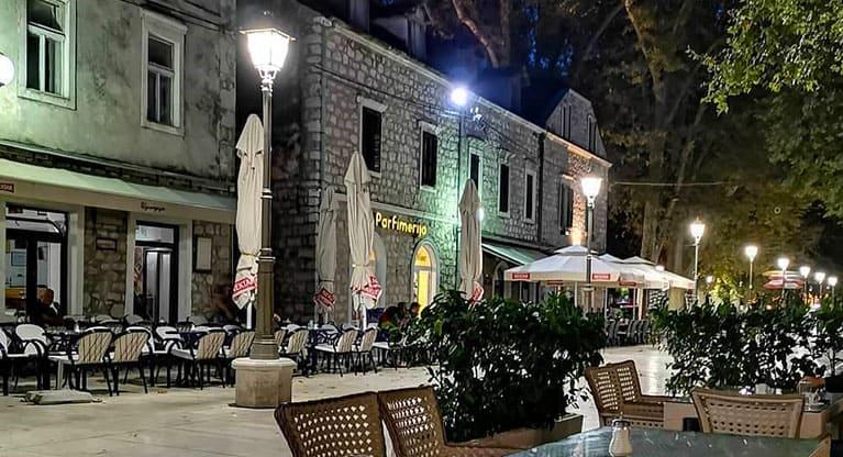 Bar lined streets-Trebinje