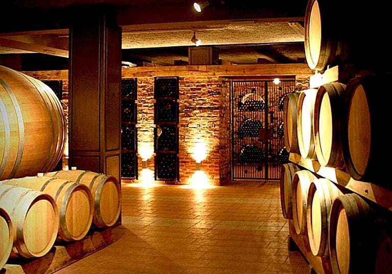 The wine cellars can be visited if requested in-advance, free of charge-Restaurant and winery Vukoje