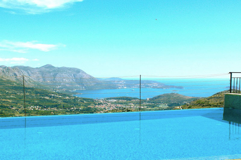 Luxury Apartment Goja-No you are not dreaming-this is our view over the pool to the Dubrovnik Riviera