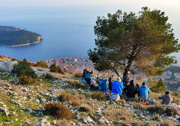 Hiking Dubrovnik-A well earned picnic