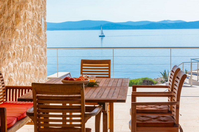 Luxury Villa Zizanj-Shaded dinning with mouthwatering views
